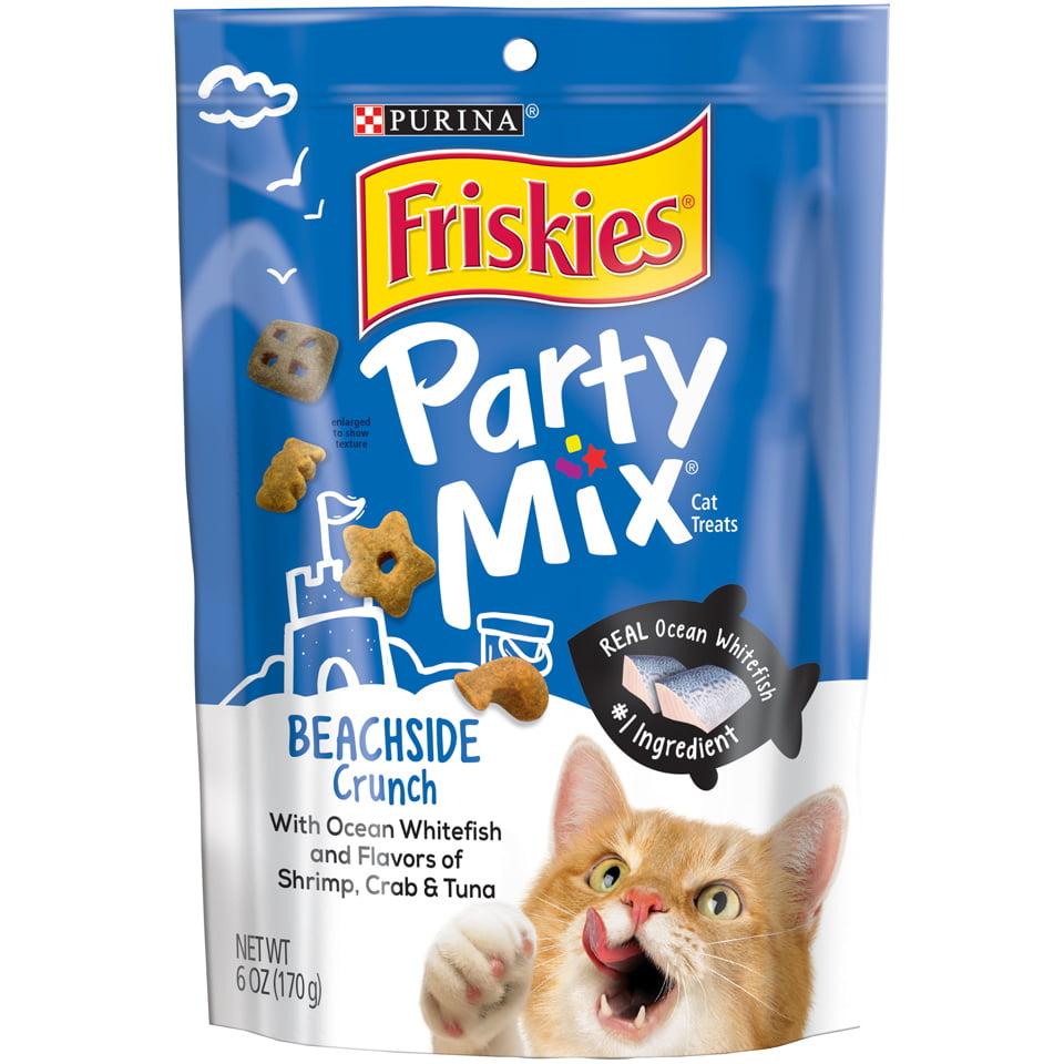 Friskies Party Mix Beachside Crunch Adult Cat Treats - 6 oz. Pouch
