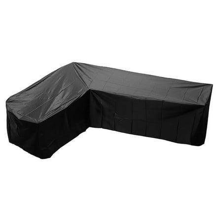 Outdoor Furniture Covers, Waterproof Garden Rattan Corner Patio Furniture Covers Outdoor Sofa Protect L Shape Kit ()