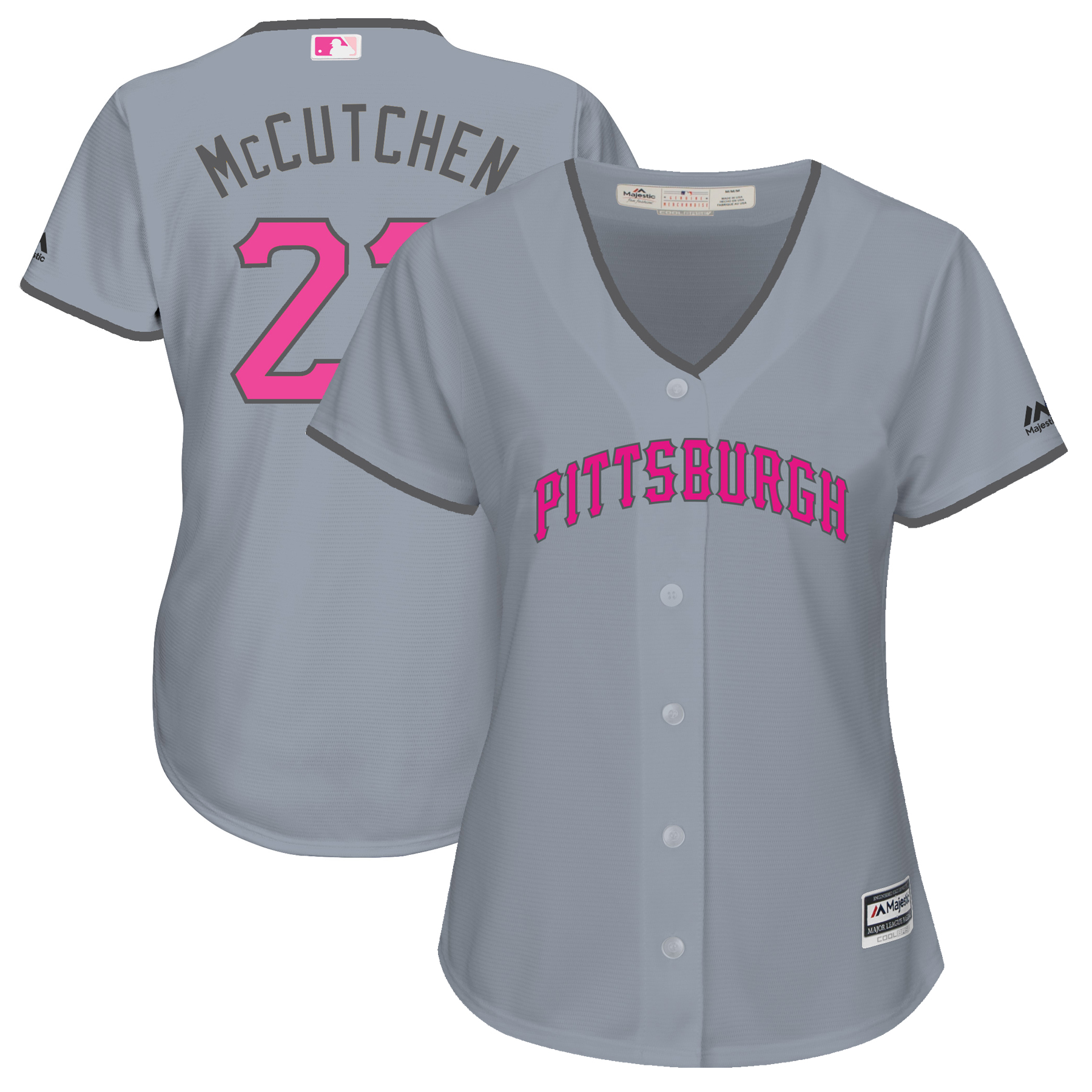 Andrew McCutchen Pittsburgh Pirates Majestic Women's Mother's Day Cool Base Replica Jersey - Gray