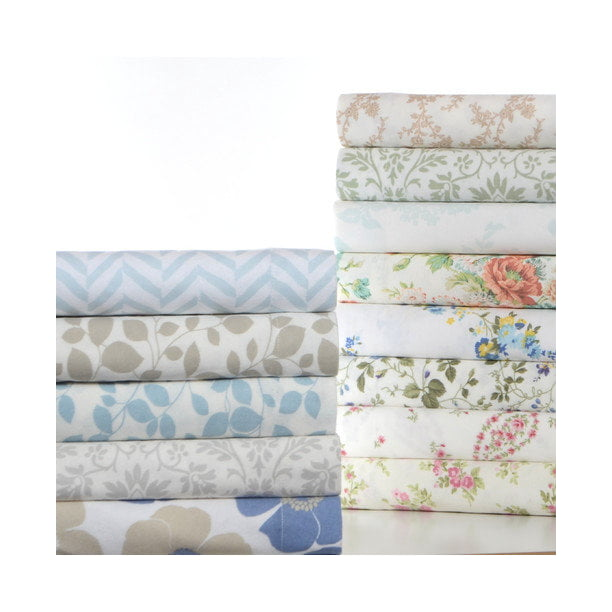 Laura Ashley Lifestyles Flannel Sheet Set Walmart Com Walmart Com