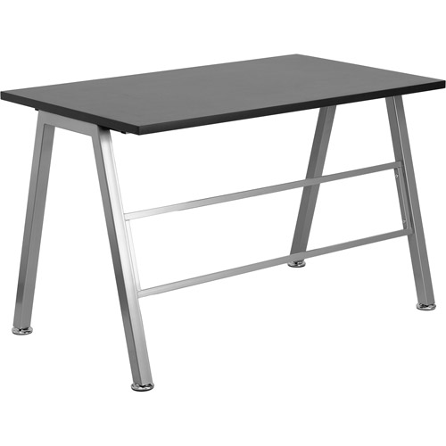 Flash Furniture High Profile Writing Desk, Black