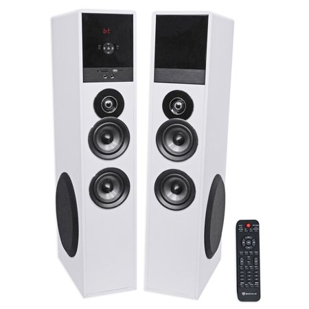 "Tower Speaker Home Theater System+8"" Sub For Sony Smart Television TV-White"
