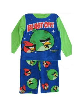 Little Boys Royal Blue Character Printed 2 Pc Pajama Set 4-6
