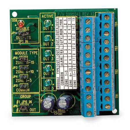 EDWARDS SIGNALING FSRRM24 Remote Relay Module,H 3 3/8 x W 2 3/4 In
