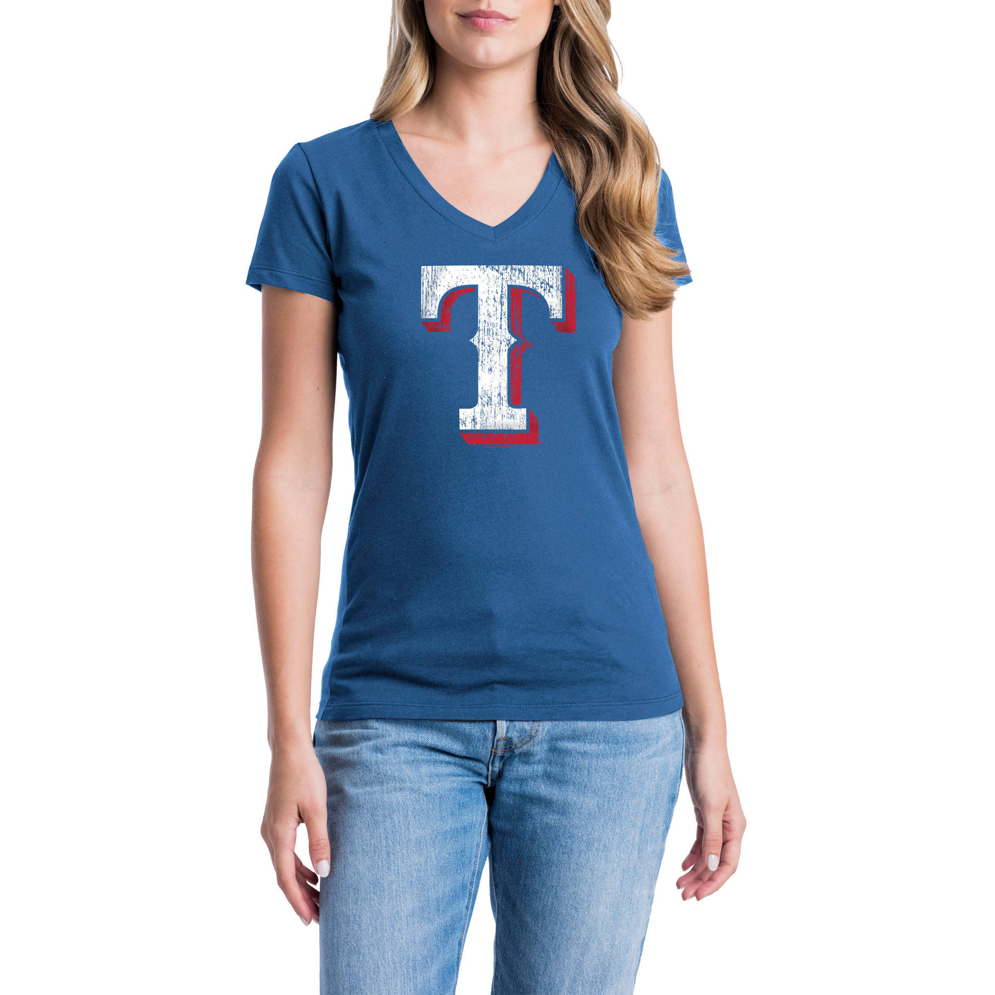 Texas Rangers Womens Short Sleeve Graphic Tee