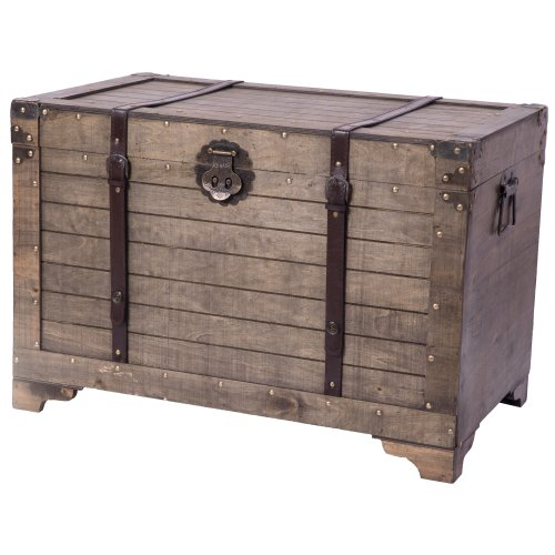 Natural Wood Storage Trunk, Storage Trunk Table