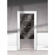 Skull Lace Mesh Door Curtain