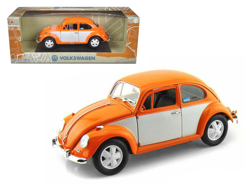 Volkswagen Beetle 1967 Model Cars 1:18 Toys Collection In Box Red Alloy Diecast