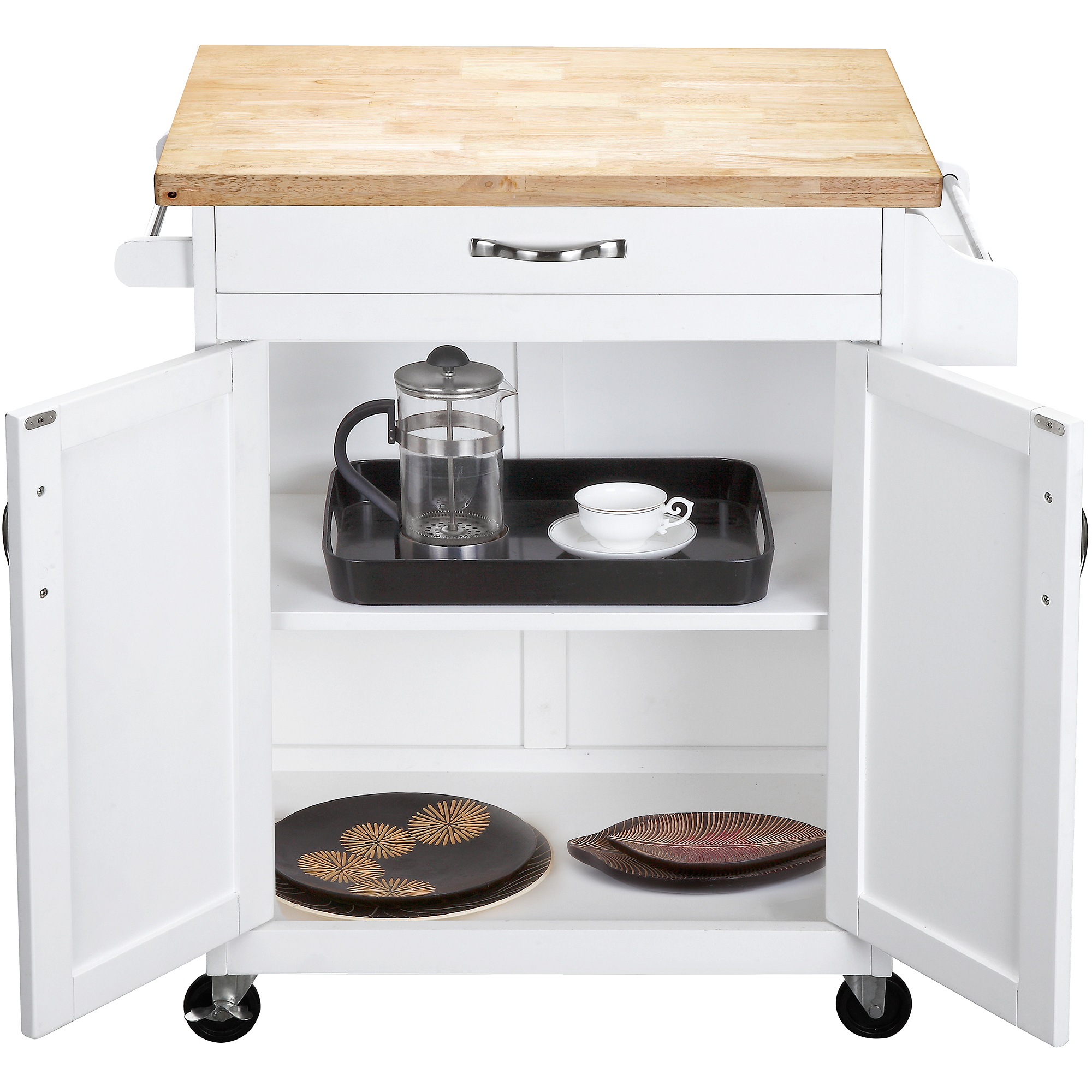 Mainstays Kitchen Island Cart White Walmartcom - Kitchen islands at walmart