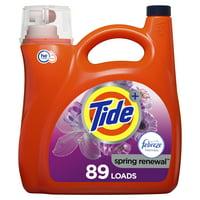 Tide Plus Febreeze Spring & Renewal HE, 89 Loads Liquid Laundry Detergent, 138 Fl Oz