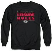 Ferris Bueller Leisure Rules Mens Crewneck Sweatshirt