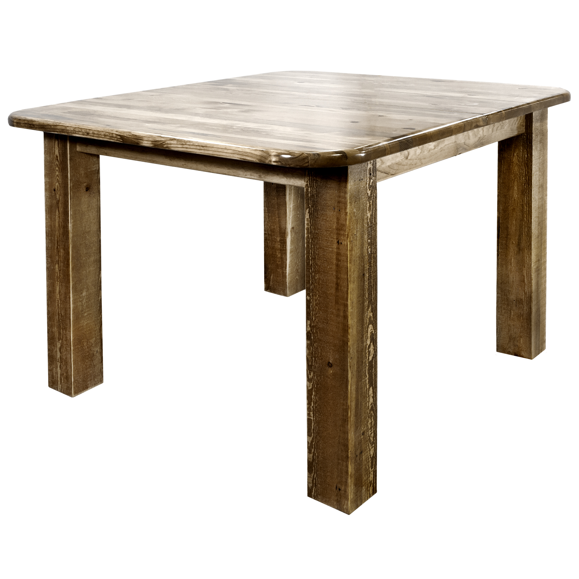 Homestead Collection Square 4 Post Dining Table, Stain & Clear Lacquer Finish