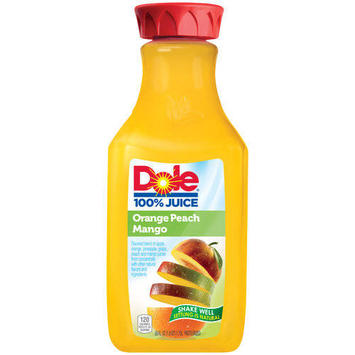 Dole 100% Orange Peach Mango Juice, 59 fl oz