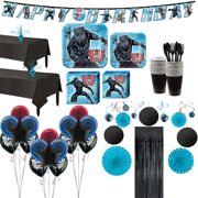Black Panther Ultimate Party Supplies for 16 Guests, with Balloons and Dcor
