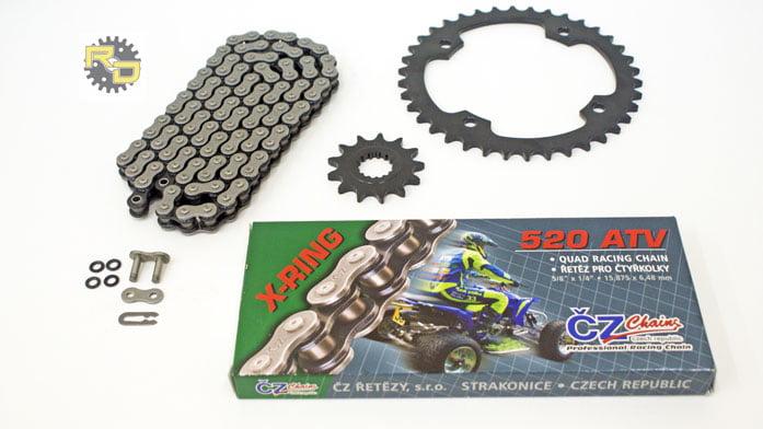CZ 520-100L ATV X Ring Chain and Sprocket 12//40 fits 2004 2005 Yamaha 450 YFZ450