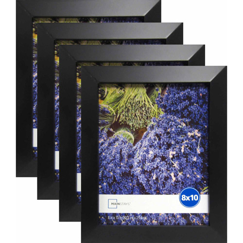 "Mainstays Wide Black 8"" x 10"" Frame, Set of 4"