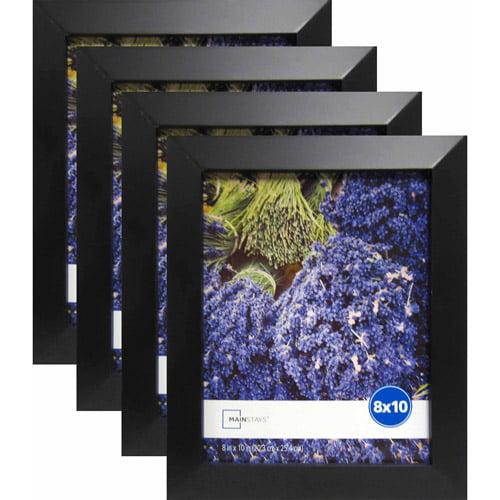 Mainstays Wide Black 8 X 10 Frame Set Of 4 Walmartcom