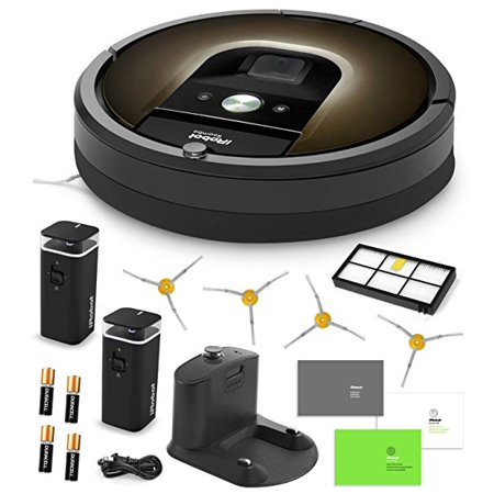Irobot Roomba 980 Vacuum Cleaning Robot   2 Dual Mode Virtual Wall Barriers  With Batteries    4 Extra Side Brushes   Extra High Efficiency Filter   More