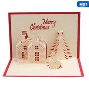 KABOER Merry Christmas Series Santa's Handmade Custom Greeting Cards Nice Christmas Cards 3D Christmas Gifts Souvenirs Postcards