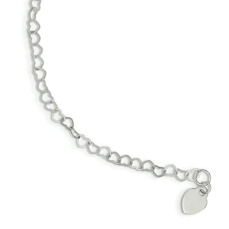 925 Sterling Silver Link Bracelet Fancy Charm W/charm Fine Jewelry Ideal Gifts For Women Gift Set From Heart Silver Heart Charm Toggle Bracelet