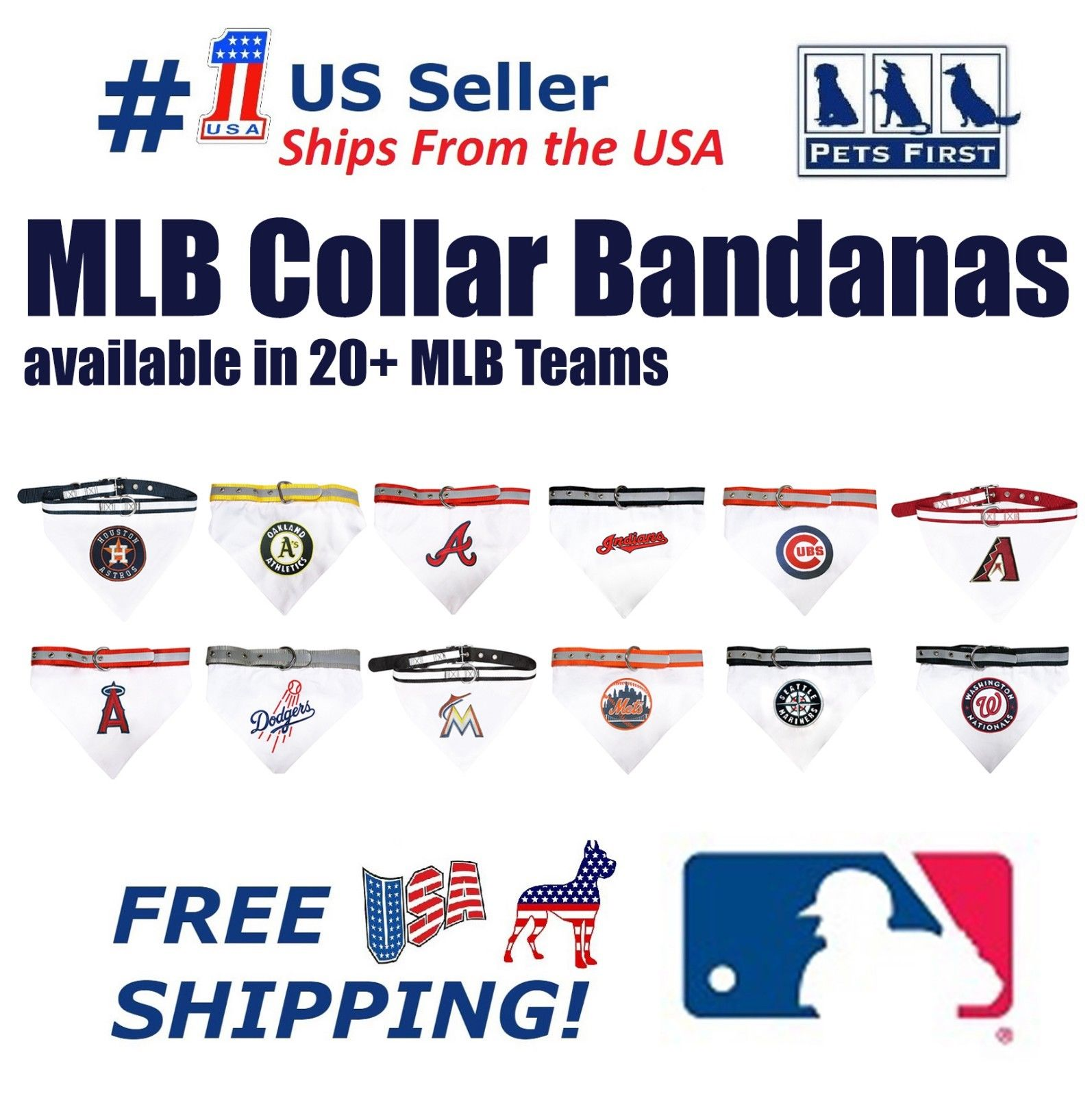 Pets First MLB Arizona Diamondbacks Cats & Dogs Collar Bandana