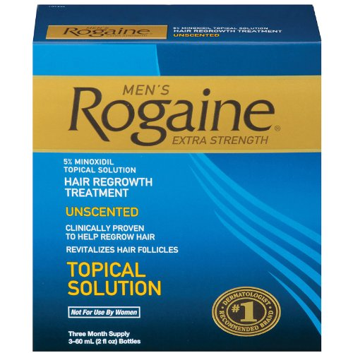 Men's Rogaine Extra Strength Hair Regrowth Treatment Unscented 3 Month