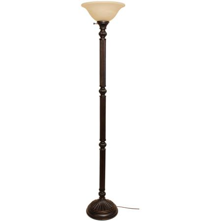 Better Homes and Gardens Traditional Torchiere Lamp, Bronze Finish by Generic