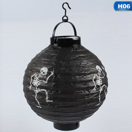 Halloween Ideen 2019 (AkoaDa 6 Styles New Halloween Pumpkin Glowing Paper Lantern Halloween Decoration Props Party Supplies)