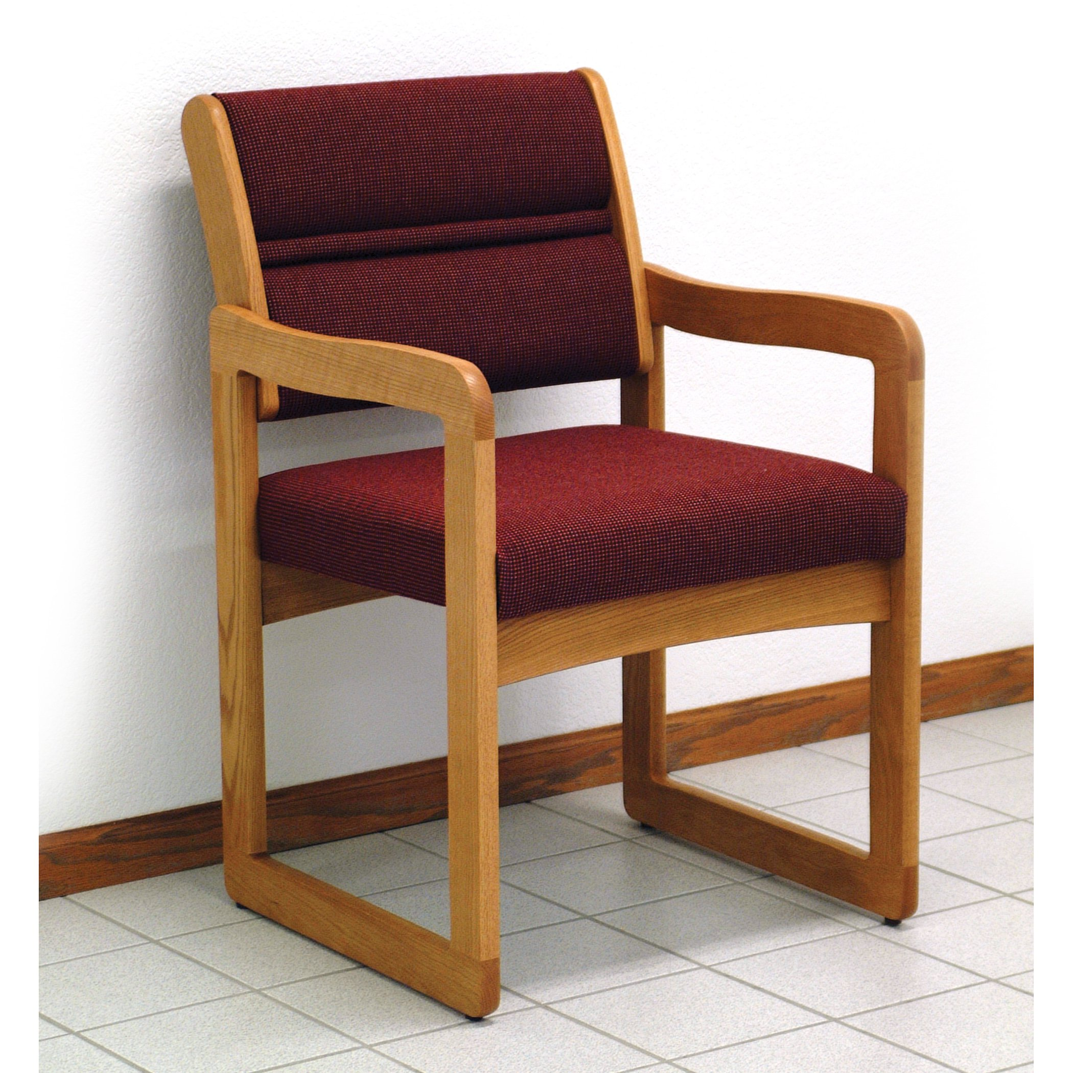 Wooden Mallet DW1-1 Solid Oak Guest Chair