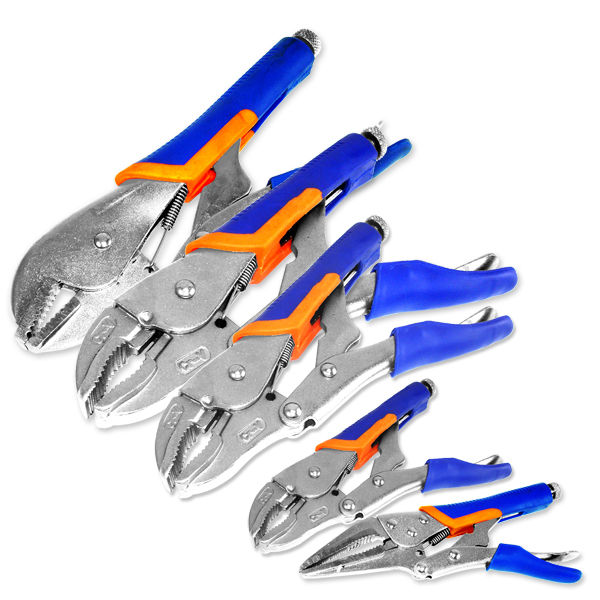 Neiko 5pc Locking Plier Soft Grip w/ Vise Jaws Locking Adjustable Grips Tool Set