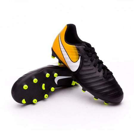592e6e78d69b6a Nike JR TIEMPO RIO IV FG Kids Black Orange Athletic Soccer Cleats Shoes -  Walmart.com