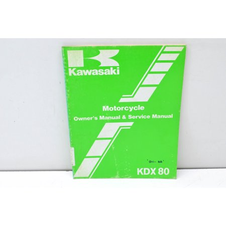 KDX80 Motorcycle Owner's Manual & Service Manual