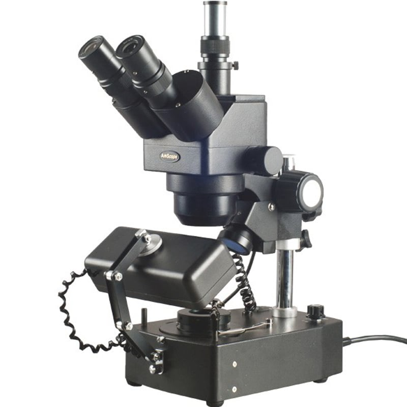 AmScope 10x-40x Gem Trinocular Stereo Microscope with 3 Lights by United Scope