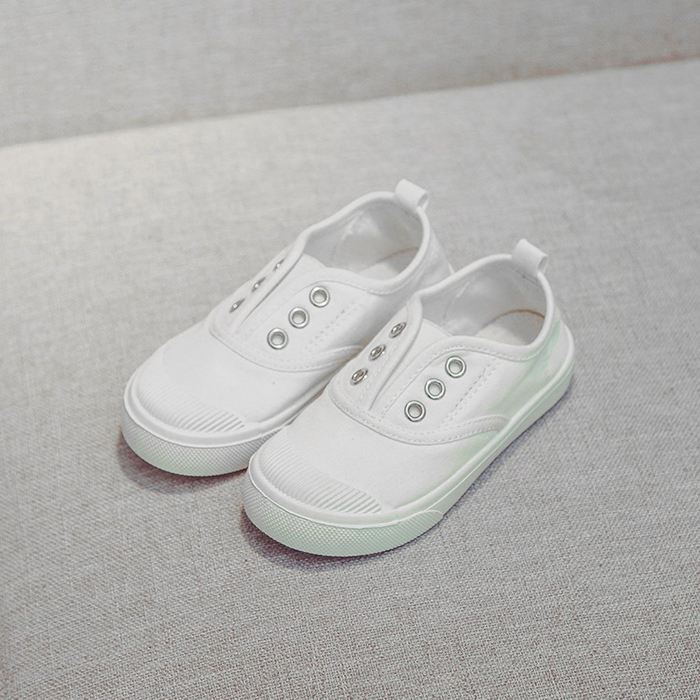 ae3e1ccd0a106 Children s Canvas Shoes Boys Girls White Shoes Non-slip Breathable ...