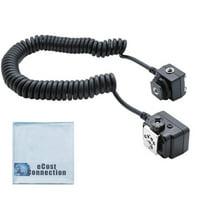 Off-Camera Shoe Cord for Canon DSLR Cameras & an eCostConnection Microfiber Cloth