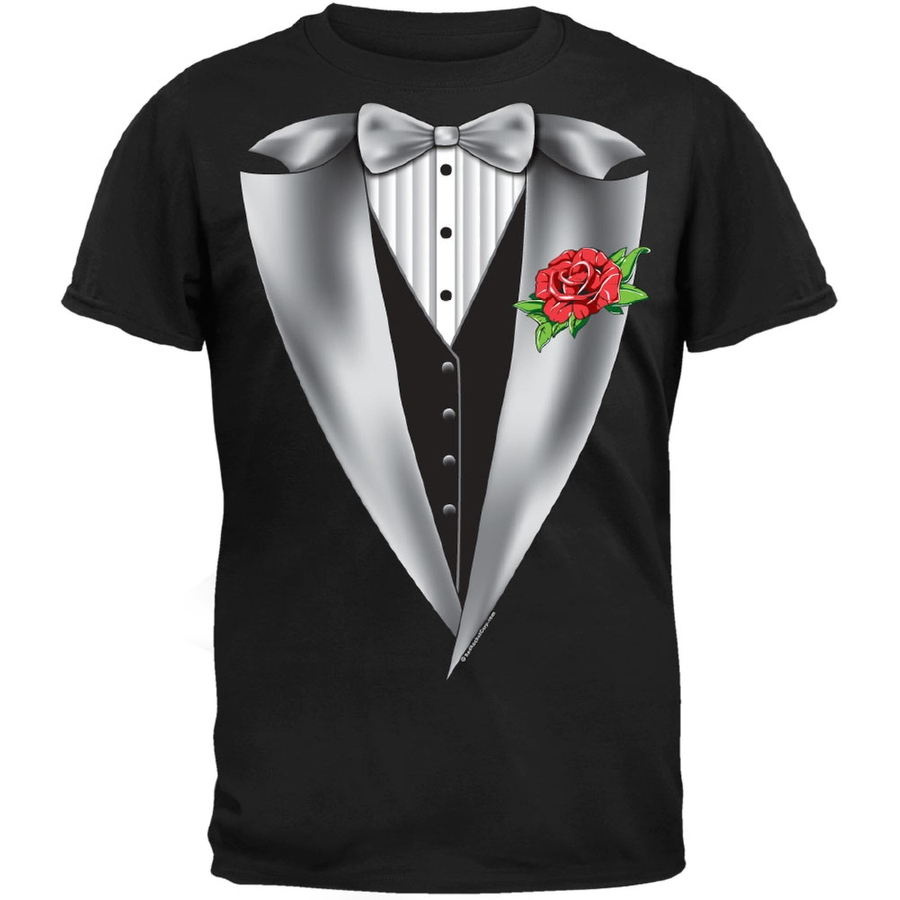 High Class Tuxedo Black Adult T-Shirt