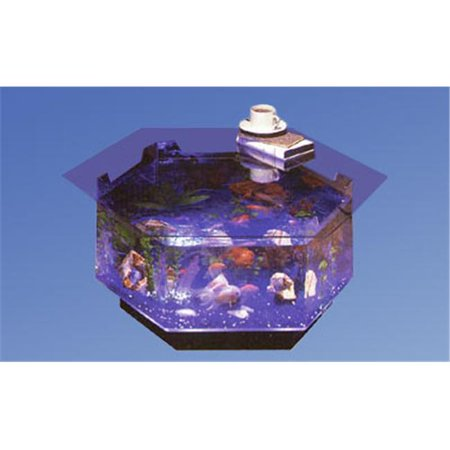 Midwest Tropical O-100 Aqua Octagon Coffee Table Aquarium