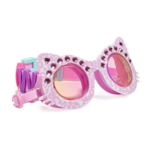 Cat Shaped Swimming Goggles For Kids by Bling2O Anti Fog, No Leak, Non Slip and UV Protection PurrFect Pink Colored Fun... by