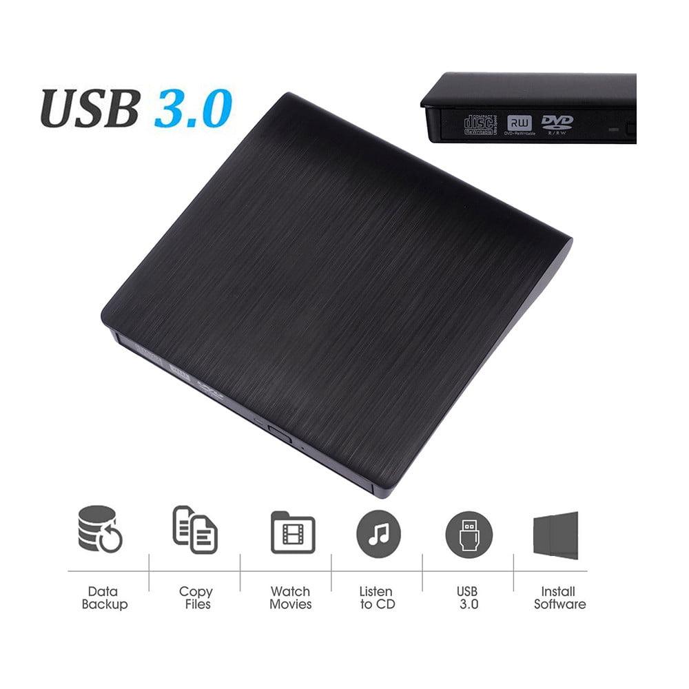 USB 3.0 External DVD CD Drive High Speed Data Transfer DVD±RW DVD-ROM Burner