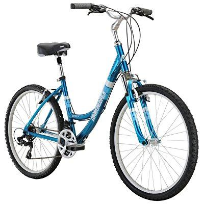diamondback bicycles women's serene classic 15 frame comfort bike, small/26, blue
