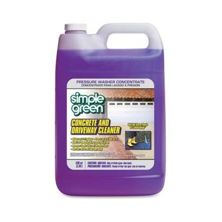 Simple green concrete driveway cleaner concentrate for Cement driveway cleaner