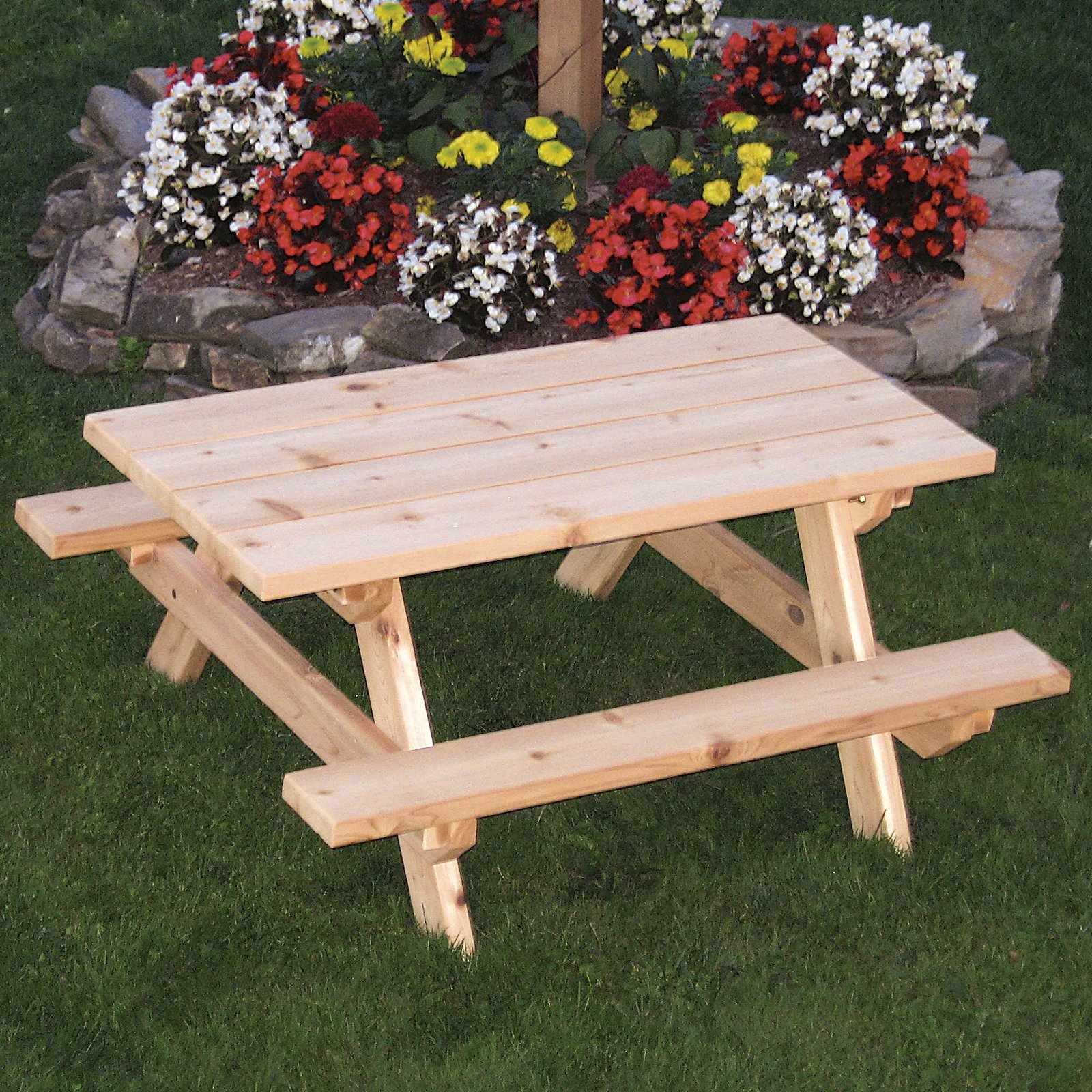A & L Furniture Western Red Cedar Kids Picnic Table
