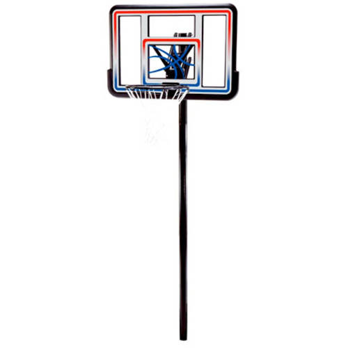 "Lifetime 44"" Shatterproof In-Ground Height Adjustable Basketball System, 1008"