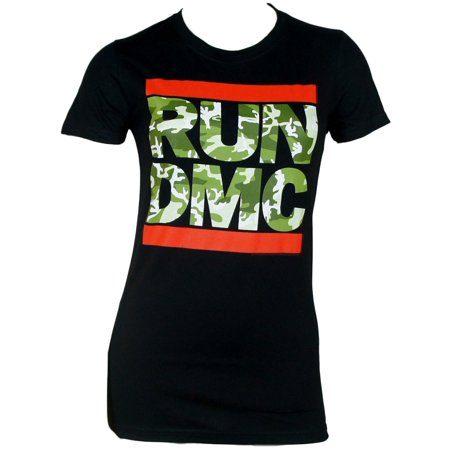 RUN DMC Camo Logo Juniors T-Shirt Black](Run Dmc Costume)