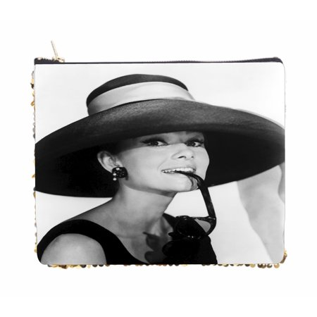 British Actress Audrey Hepburn with Sunglasses and a Hat - Double Sided 6.5