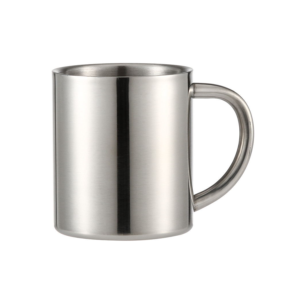 stainless steel cup drinking juice beer glass portion cups home travel tool. Black Bedroom Furniture Sets. Home Design Ideas