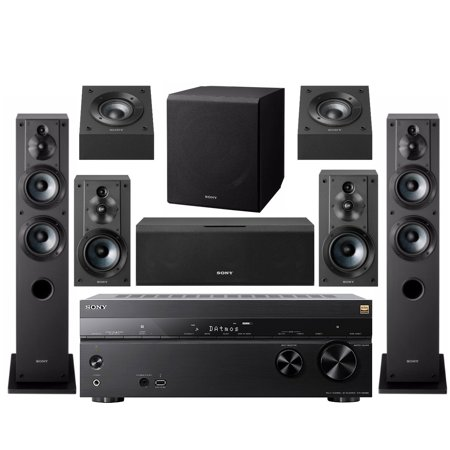 Sony 7.2-Channel Home Theater AV Receiver with Subwoofer and Speakers Bundle