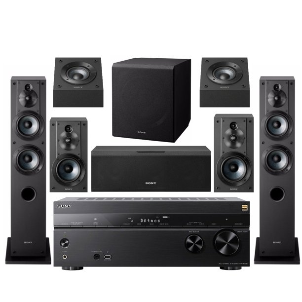 Sony 7 2 Channel Home Theater Av Receiver With Subwoofer And Speakers Bundle Walmart Com Walmart Com