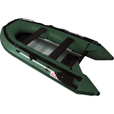 Aleko inflatable 4 person fishing boat aluminum floor for 4 person fishing boat