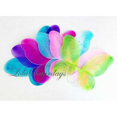 LolaSaturdays 5 Pack Assorted Fairy Wings (12